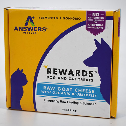 Answers Raw Goat Cheese with Blueberries Treats for Dogs and Cats