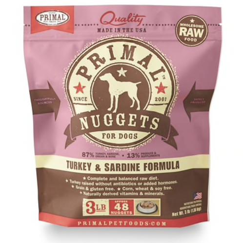 Primal Turkey & Sardine Formula Raw Dog Food