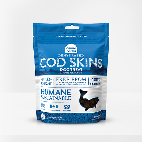 Open Farm Dehydrated Cod Skins Treats for Dogs