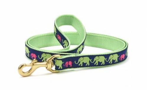 Up Country Elephants/Green 6' Leash