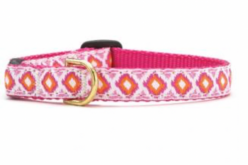 Up Country Pink and Orange Pattern Cat Collar