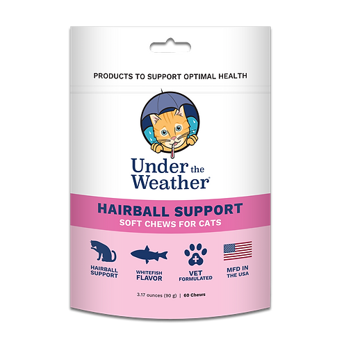 Under the Weather Hairball Support Chews for Cats