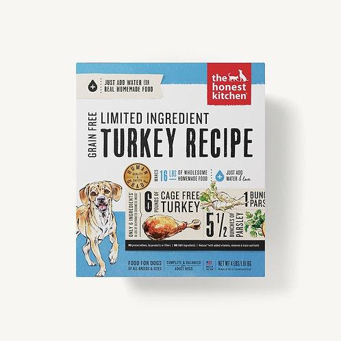The Honest Kitchen Limited Ingredient Turkey Recipe Dog Food (Just add water)