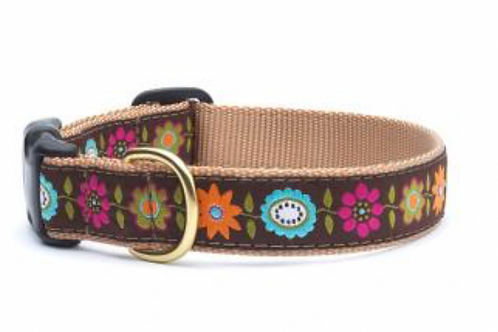 Up Country Flowers Dog Collar