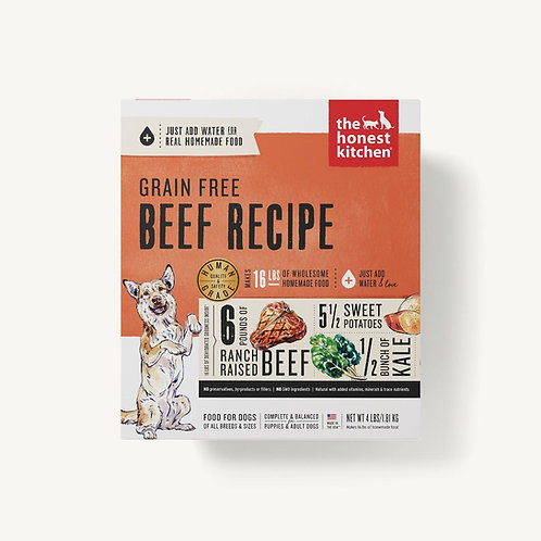 The Honest Kitchen Grain Free Beef Recipe Dog Food (Just add w