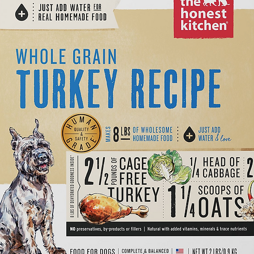 The Honest Kitchen Whole Grain Turkey Recipe Dog Food