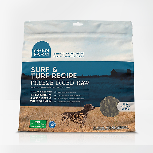 Open Farm Surf & Turf Recipe Freeze Dried Raw Dog Food