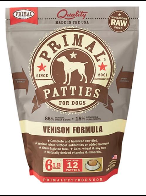 Primal Venison Formula Raw Dog Food Patties