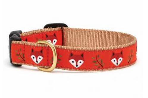 Up Country Fox Print Dog Collar