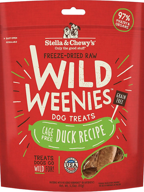 Stella & Chewy's Duck Recipe Wild Weenies Dog Treats