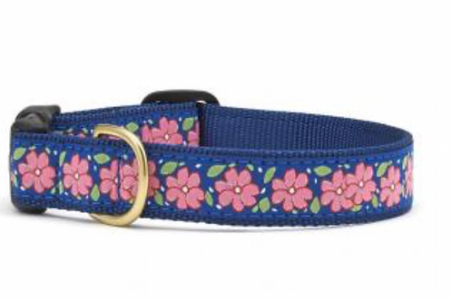 Up Country Pink Flowers Dog Collar