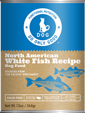 D.O.G. North American White Fish Recipe Canned Dog Food