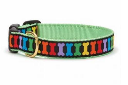 Up Country Rainbow Bone Dog Collar