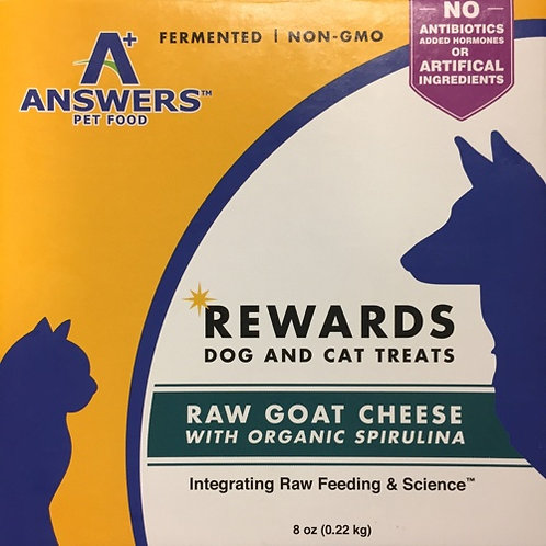 Answers Raw Goat Cheese with Spriulina Treats for Dogs and Cats