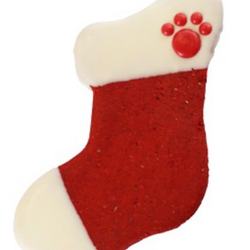 Preppy Puppy Christmas Stocking Cookie