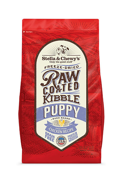 Stella & Chewy's Puppy Formula Chicken Recipe Raw Coated Kibble Dog Food