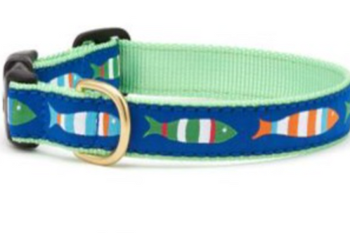 Up Country Colorful Fish Cat Collar
