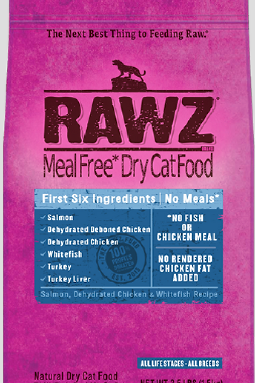 Rawz Salmon, Dehydrated Chicken, & Whitefish Recipe Cat Food