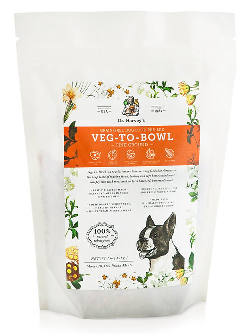 Dr. Harvey's Fine Ground Veg-To-Bowl Grain Free Pre-Mix Dog Food