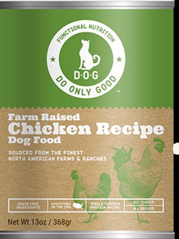 D.O.G. Farm Raised Chicken Recipe Canned Dog Food