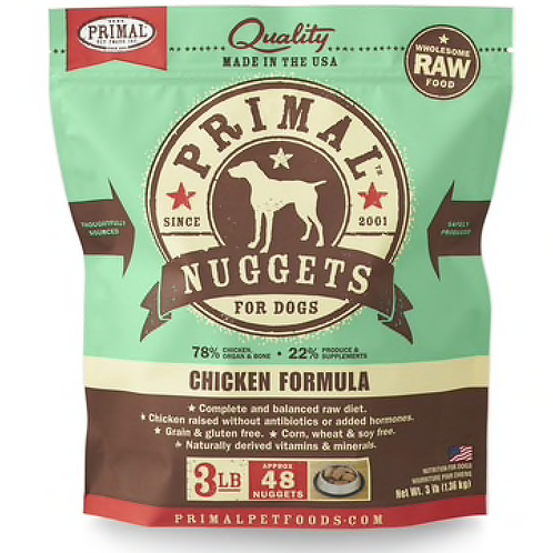 Primal Chicken Formula Raw Dog Food