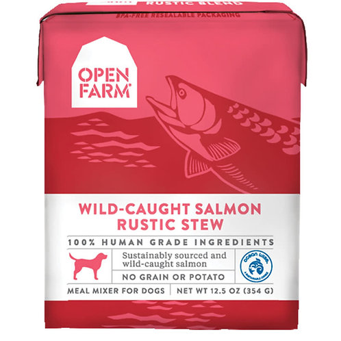 Open Farm Wild-Caught Salmon Rustic Stew Meal Mixer for Dogs