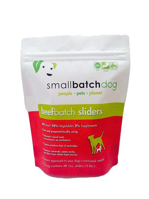 Small Batch Pets Beef Batch Sliders Raw Dog Food