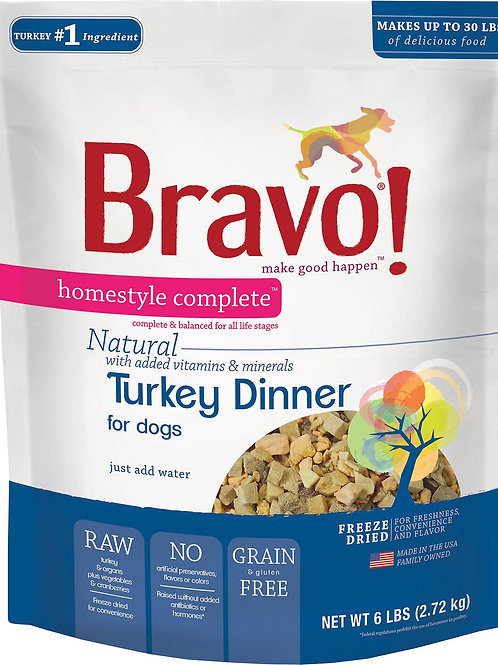 Bravo Raw Turkey Dinner for Dogs