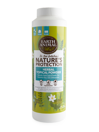 Earth Animal Herbal Topical Powder Flea & Tick Prevention for Dogs and Cats