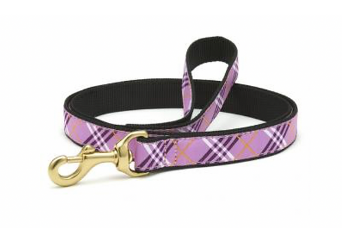 Up Country Purple Plaid/Black 6' Leash