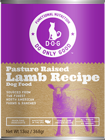 D.O.G. Pasture Raised Lamb Recipe Canned Dog Food