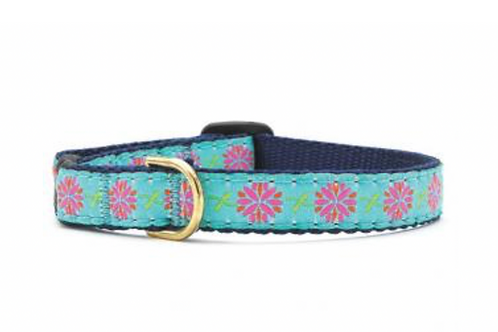 Up Country Pink Flowers Cat Collar