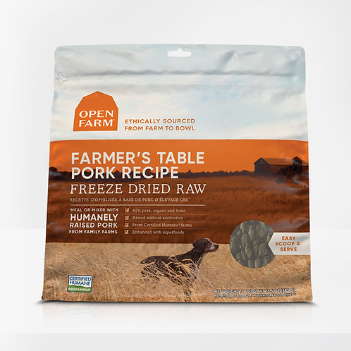 Open Farm Farmer's Table Pork Recipe Freeze Dried Raw Dog Food