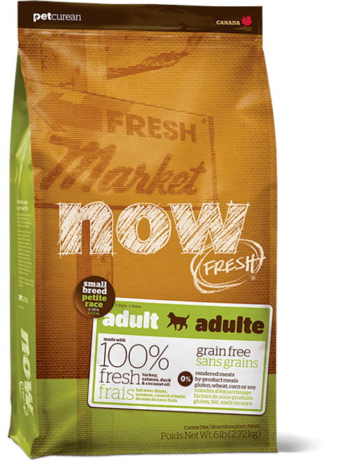 Pet Curean Now Fresh Small Breed Adult Grain Free Formula Dog Food
