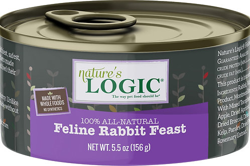 Nature's Logic Feline Rabbit Feast Cat Food