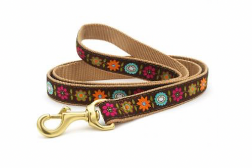 Up Country Flowers/Brown 6' Leash