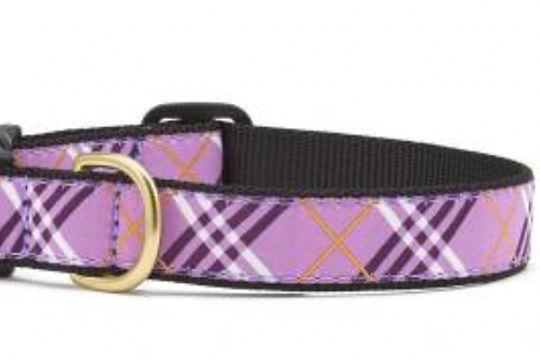 Up Country Purple Plaid Dog Collar