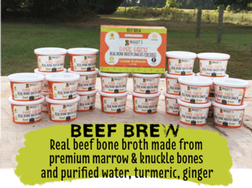 Nugget's Beef Brew Frozen Bone Broth Treat for Dogs