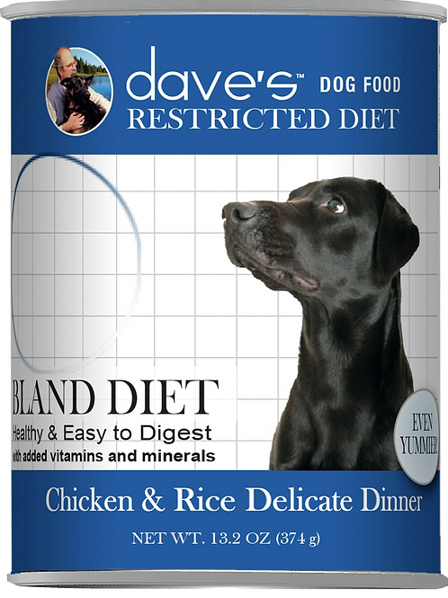 Dave's Chicken & Rice Delicate Dinner for Dogs