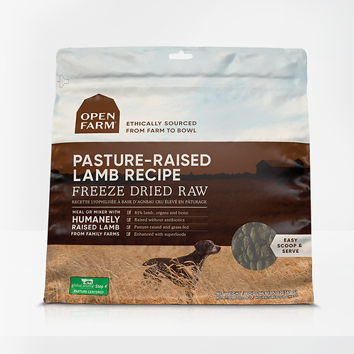 Open Farm Pasture-Raised Lamb Recipe Freeze Dried Raw Dog Food