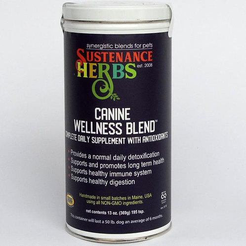 Sustenance Herbs Canine Wellness Blend Daily Supplement