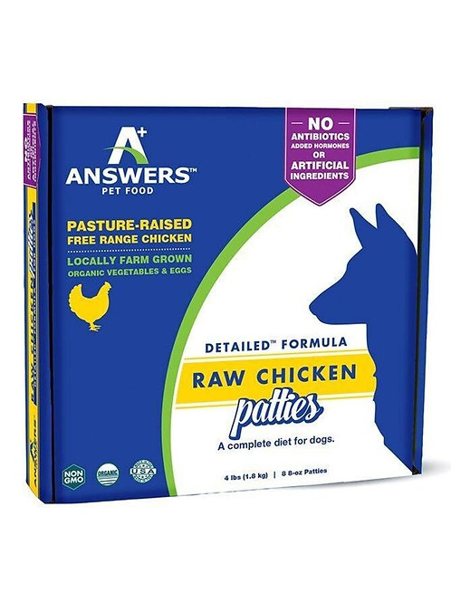 Answers Raw Chicken Patties Dog Food