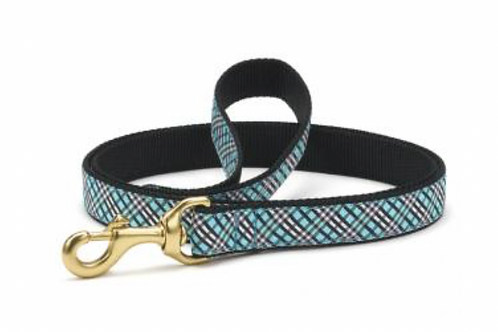 Up Country Blue Plaid/Black 6' Leash