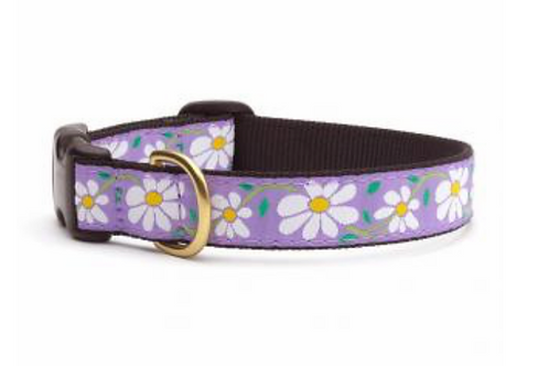 Up Country Purple with Daisies Dog Collar