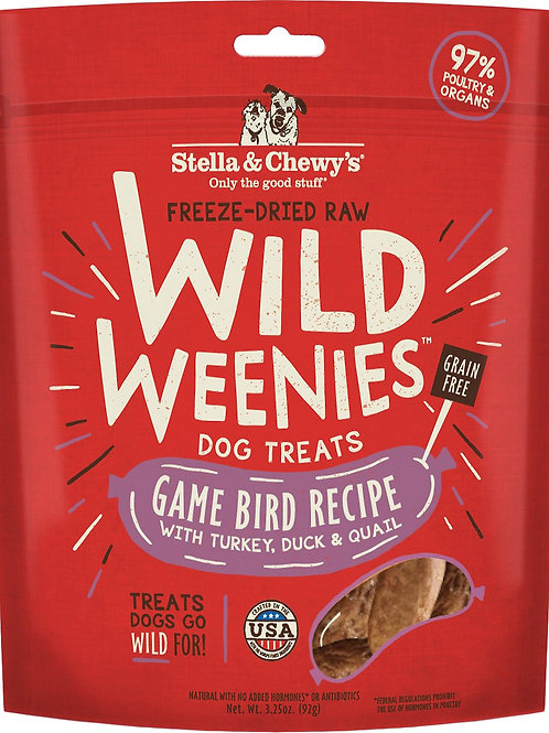Stella & Chewy's Game Bird Recipe Wild Weenies Dog Treats