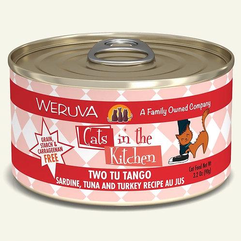 Weruva Two Tu Tango - Sardine, Tuna, and Turkey Cat Food