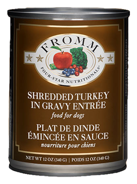 Fromm Shredded Turkey in Gravy Dog Food