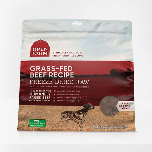Open Farm Grass-Fed Beef Recipe Freeze Dried Raw Dog Food