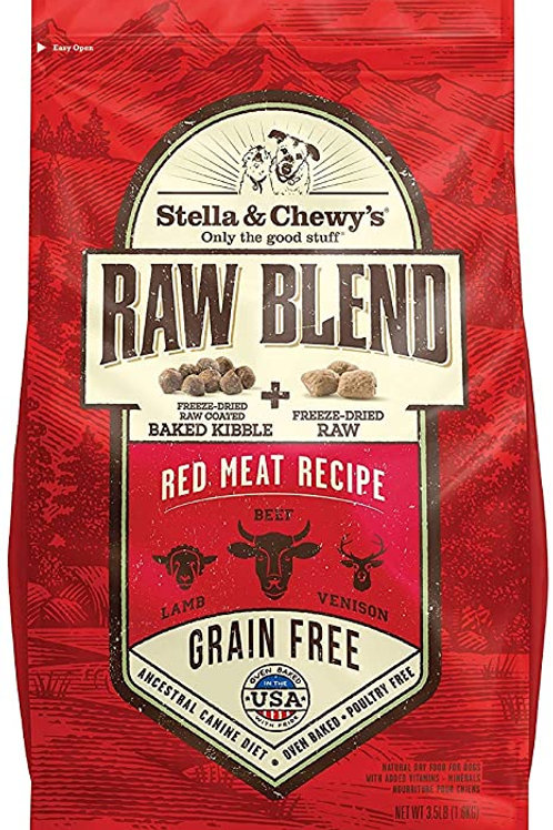 Stella & Chewy's Red Meat Recipe Raw Blend Kibble Dog Food