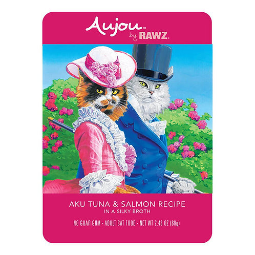 Rawz Aku Tuna & Salmon Recipe Aujou Cat Food